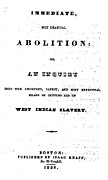 Abolition Art - Slavery. An Abolitionist Book. The by Everett