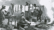 Washing Clothes Posters - Slaves In Union Camp Poster by Photo Researchers