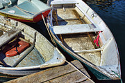 Row Boat Prints - Small Boats Print by Olivier Le Queinec