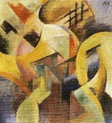 Composition Painting Prints - Small Composition I Print by Franz Marc