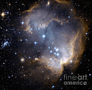 Small Magellanic Cloud Prints - Small Magellanic Cloud Print by Nasa