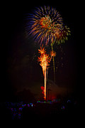 4th Of July Prints - Small Town Celebration Print by David Hahn