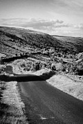 Mountain Road Prints - Small Twisty Narrow Country Mountain Road Through Glendun Scenic Route Glendun County Antrim Print by Joe Fox