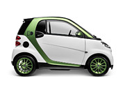 Electric Car Framed Prints - Smart Fortwo Electric Drive Framed Print by Oleksiy Maksymenko