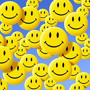 Smiley Faces Prints - Smiley Face Symbols Print by Detlev Van Ravenswaay