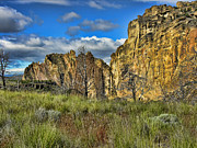 Burnt Posters - Smith Rock Poster by Bonnie Bruno