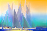 Diversity Digital Art - Smooth Sailing by Mathilde Vhargon