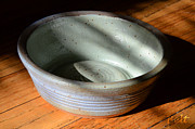 Pottery Ceramics Prints - Snickerhaus Pottery-Small Bowl Print by Christine Belt