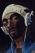 Hiphop Paintings - Snoop Dogg by Estelle BRETON-MAYA