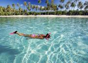 Bathing Suit Photos - Snorkeling in Polynesia by Monica and Michael Sweet - Printscapes