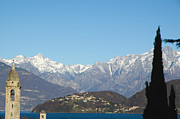 Lake Como Art - Snow-capped mountain by Mats Silvan
