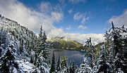 Alpine Lake Framed Prints - Snow Lake Vista Framed Print by Mike Reid