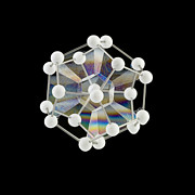 Dodecahedron Prints - Soap Bubbles On A Dodecahedral Frame Print by Paul Rapson