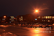 Rochester New York Photos - Sodium Vapor Lights On College Campus by Ted Kinsman