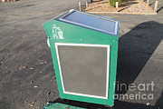 Solar Panel Prints - Solar Powered Trash Compactor Print by Photo Researchers, Inc.