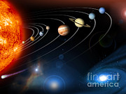 Digital Collage Photo Posters - Solar System Poster by Nasa