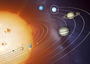 Neptune Prints - Solar System Orbits, Artwork Print by Detlev Van Ravenswaay