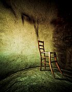 Contemplative Metal Prints - Solitary Chair Metal Print by Emilio Lovisa