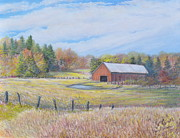 Old Barn Pastels - Somerset County Farm by Penny Neimiller