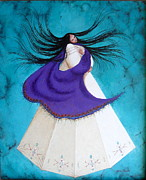 Indian Maiden Paintings - Song of My Heart by Karen Roncari