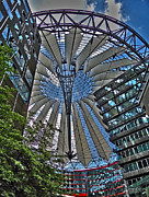 Wolken Metal Prints - Sony Center - Berlin Metal Print by Juergen Weiss
