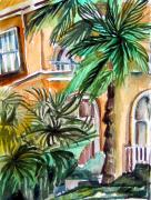 Tropical Drawings Posters - Sorrento Poster by Mindy Newman