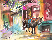 Marrakesh Paintings - Souk in Marrakesh 01 by Miki De Goodaboom
