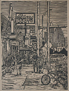 Austin Drawings Originals - South Congress by William Cauthern