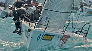 Sailboat Ocean Photos - South Florida regatta by Steven Lapkin