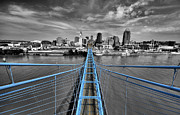 Cincinnati Framed Prints - South Tower - Selective Color Framed Print by Russell Todd
