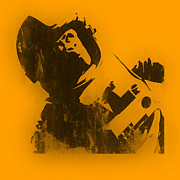 Stencil Digital Art Posters - Space Ape Poster by Pixel Chimp
