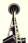 Needle Posters - Space Needle Poster by Tanya Harrison