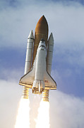Atlantis Prints - Space Shuttle Atlantis Lifts Print by Stocktrek Images