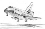 Space Shuttle Atlantis Print by Tibi K