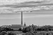 Washington D.c. Originals - Space shuttle Discovery Flyover over the Washington D.C. area - by Dasha Rosato