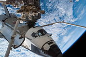 Destiny Metal Prints - Space Shuttle Endeavour, Docked Metal Print by Stocktrek Images