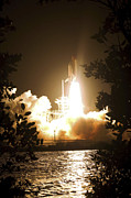 105 Posters - Space Shuttle Endeavour Liftoff Poster by Stocktrek Images