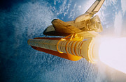 Space Shuttle In Space Print by Stocktrek