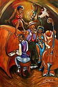 Jazz Painting Originals - Speakeasy by Daryl Price