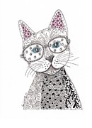 Fun Mixed Media Prints - Spec-Catular Print by Paula Dickerhoff