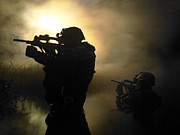 Assault Rifles Photos - Special Operation Forces Combat Divers by Tom Weber
