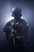 Uniforms Metal Prints - Special Operations Forces Soldier Metal Print by Tom Weber