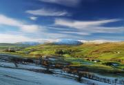 Winter Scenes Rural Scenes Prints - Sperrin Mountains, Co Tyrone, Ireland Print by The Irish Image Collection