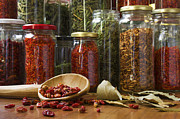 Herbs Photos - Spicy still life by Carlos Caetano