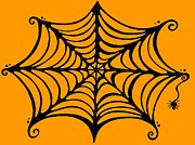 Halloween Mixed Media Prints - Spiders Web Print by Mandy Shupp
