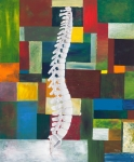 Bones Paintings - Spine by Sara Young