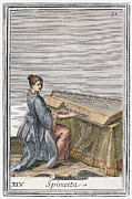 Virginal Framed Prints - Spinet, 1723 Framed Print by Granger