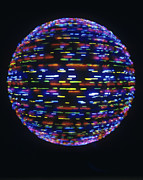 Fast Ball Posters - Spinning Globe Poster by Lawrence Lawry