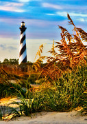 North Carolina Wall Art Prints - Splendid Sunset on Hatteras Print by Dan Carmichael