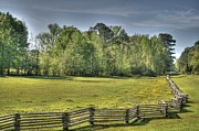 Split Rail Fence Digital Art Framed Prints - Split Rail Framed Print by Rick Ward